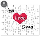 ich liebe Oma I love grandma in German Puzzle
