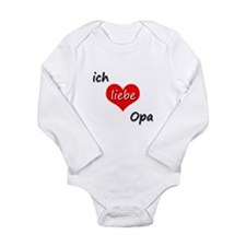 ich liebe Opa I love grandpa in German Long Sleeve
