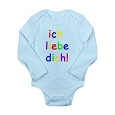 Ich liebe dich! I love you! German Long Sleeve Inf
