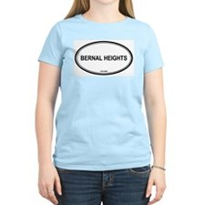 Bernal Heights oval Women's Pink T-Shirt