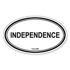 Independence oval Oval Decal