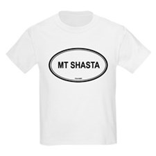 Mt Shasta oval Kids T-Shirt