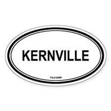 Kernville oval Oval Decal