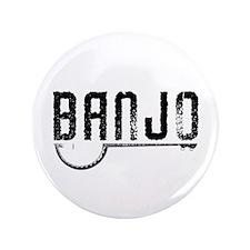 """Retro Banjo 3.5"""" Button"""