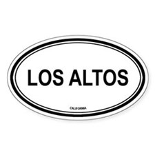 Los Altos oval Oval Decal