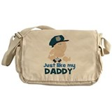 Baby Cop Just like My Daddy Police Messenger Bag
