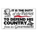 """""""Duty Of The Patriot"""" Sticker (Rectangle"""