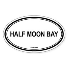 Half Moon Bay oval Oval Bumper Stickers