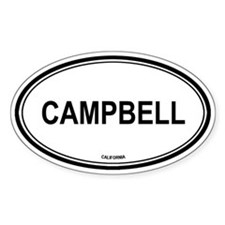 Campbell oval Oval Decal