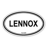Lennox oval Oval Decal