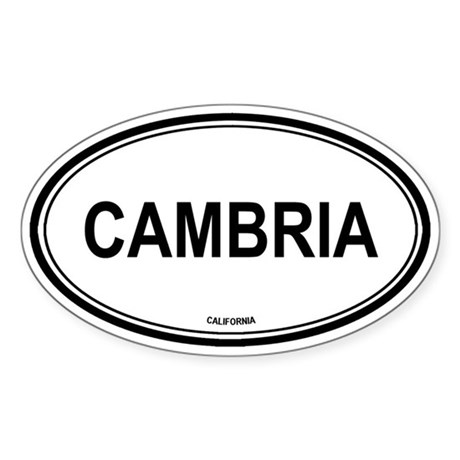 Cambria oval Oval Sticker