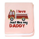 I love Firetrucks (just like Daddy) baby blanket