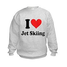 I Heart Jet Skiing Sweatshirt