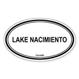 Lake Nacimiento oval Oval Decal