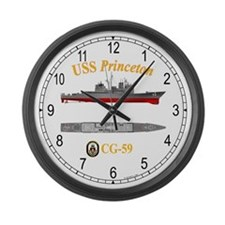 USS Princeton CG-59 Large Wall Clock