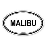 Malibu oval Oval Decal