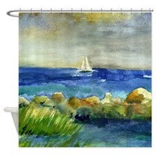 Seashore Shower Curtains | Seashore Fabric Shower Curtain Liner