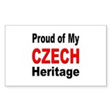 Proud Czech Heritage Rectangle Decal