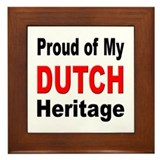 Proud Dutch Heritage Framed Tile