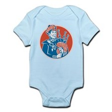 Scotsman Scottish Bagpiper Retro Infant Bodysuit