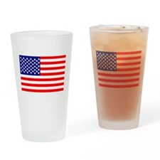 USA American Flag Drinking Glass