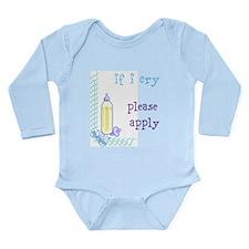 Apply Long Sleeve Infant Bodysuit