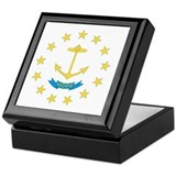 Rhode Island State Flag Keepsake Box