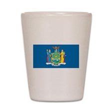New York State Flag Shot Glass