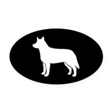 Australian Cattle Dog Oval Car Magnet