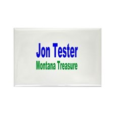 Jon Tester, Montana Treasure Rectangle Magnet (10