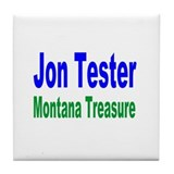 Jon Tester, Montana Treasure Tile Coaster