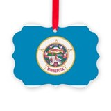 Minnesota State Flag Picture Ornament