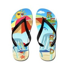 Tropical Retirement Flip Flops