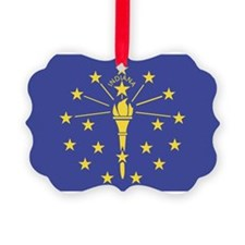 Indiana State Flag Ornament