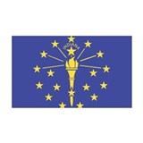 Indiana State Flag Wall Decal