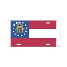 Georgia State Flag Aluminum License Plate