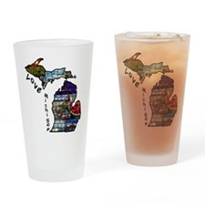 Love Michigan Drinking Glass