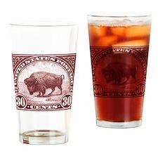 1923 American Buffalo Stamp Drinking Glass
