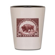 1923 American Buffalo Stamp Shot Glass