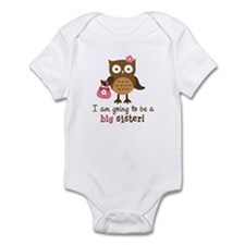 Big Sister to be - Mod Owl Infant Bodysuit