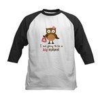Big Sister to be - Mod Owl Kids Baseball Jersey