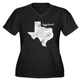 Tierra Grande, Texas. Vintage Women's Plus Size V-