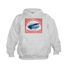1918 US Stamp Curtiss Biplane Hoodie