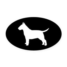 Bull Terrier Oval Car Magnet