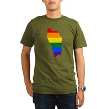 Rainbow Pride Flag Dominica Map T-Shirt