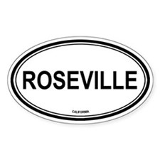 Roseville oval Oval Decal