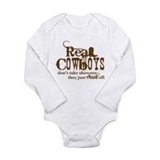 Real Cowboys Long Sleeve Infant Bodysuit