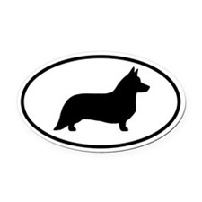 Cardigan Corgi Oval Car Magnet