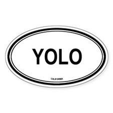 Yolo oval Oval Decal