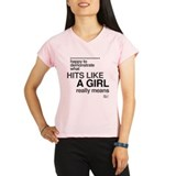 Hit Like a Girl Performance Dry T-Shirt